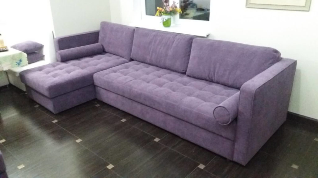 перетяжка мягкого дивана в Киеве