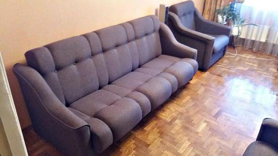 замена пружин в диване на поролон